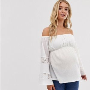 ✨Host pick✨ ASOS Maternity bardot top